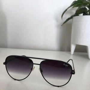 Quay - Desi Perkins black aviator sunglasses